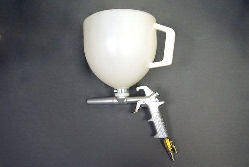 Flake Broadcast Gun and Hopper