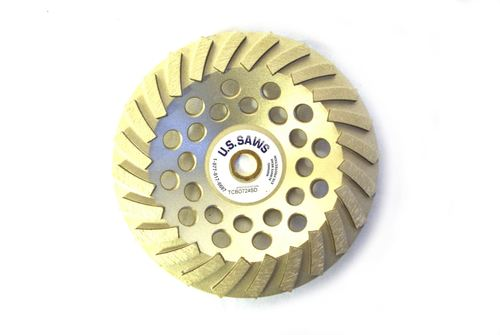 """7"""" Swirl Cup Wheel for Grinding (Non-Threaded)"""