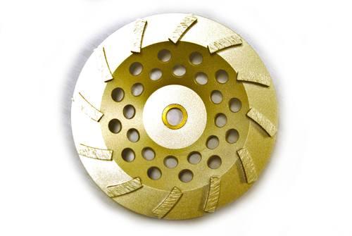 "12-Segment 7"" Swirl Cup Wheel for Grinding"
