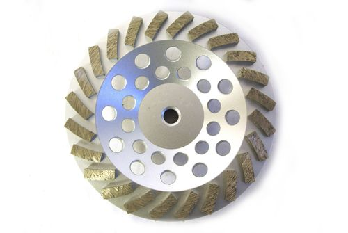 """7"""" Swirl Cup Wheel for Grinding (Threaded)"""