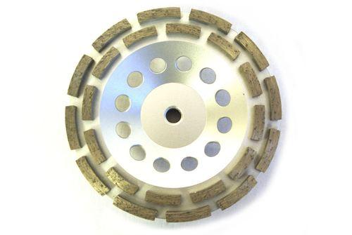 "Double Row Diamond Cup Wheel for Grinding (7"")"