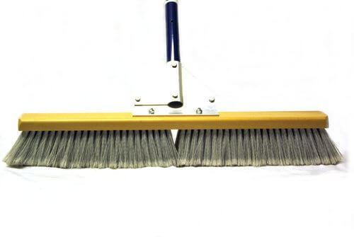 "24"" Dou Broom with 60"" Ergonomic Blue Handle"