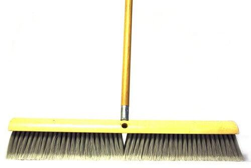 "Grey Plastic Broom with 60"" Handle"