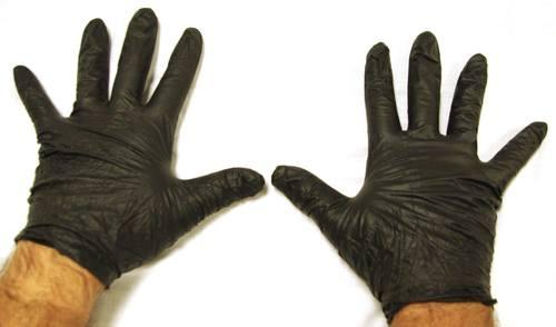 Black Nitrile Safety Gloves
