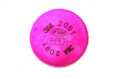 3M P100 Particulate Safety Mask Filter (Front)