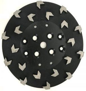 20 Arrow-Segment Diamond Grinding Plate (Hard Bond)