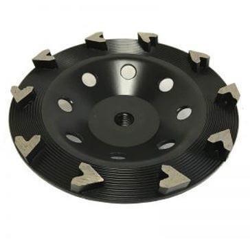 "7"" Arrow-Seg Cup Wheel for Grinding (Eco Black)"