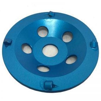 7″ 6-Seg 1/4 Round PCD Cup Wheel for Grinding