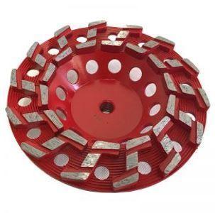 7″ S-Seg Cup Wheel for Grinding (Threaded)