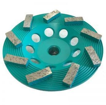 7″ 12-Seg Spiral Cup Wheel for Grinding (Premium Green Series)