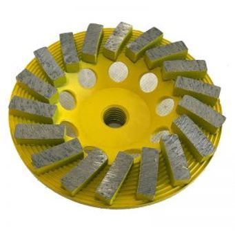 """7"""" 12-Seg Spiral Cup Wheel for Grinding (Yellow Series)"""
