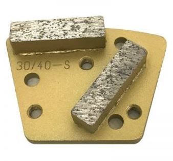 Diamond Trapezoid Bolt-On Double Bar Segment (Soft Bond)