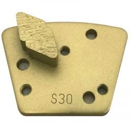 Diamond Trapezoid Bolt-On Single Diamond Segment (Soft Bond)