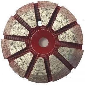 Grinding Plugs & Pucks: 10-Seg Metal Bond Puck (Hard Bond)