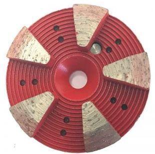 Grinding Plugs & Pucks: 5-Seg Metal Bond Puck (Medium Bond)