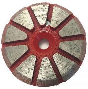 Grinding Plugs & Pucks: 10-Seg Metal Bond Puck (Medium Bond)