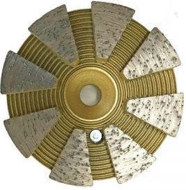 Grinding Plugs & Pucks: 5-Seg Metal Bond Non-Bevel Puck (Soft Bond)
