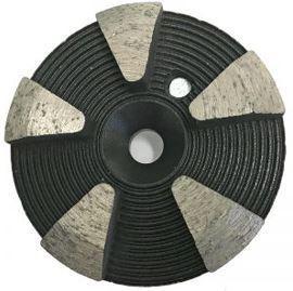 Grinding Plugs & Pucks: 5-Seg Metal Bond Puck (Hard Bond)