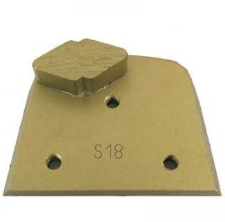 Alternative to Edco, Lavina, and Onfloor Parts: Slim Fit Single Diamond Segment Grinding Plate (Soft Bond)